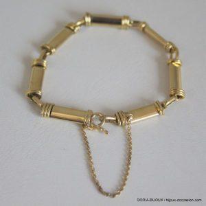 Bracelet Or 750/000 Jaune  Maille Baton