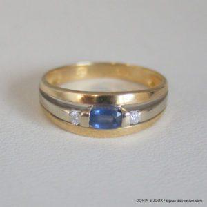 Bague Or 18k  750 Saphirs Diamant