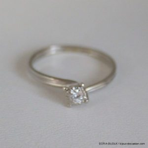 Bague Solitaire Or 750 Diamant 0.10cts 1.4grs -51