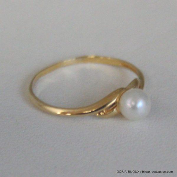 Bague Or 18k 750 Perles -53- 1grs