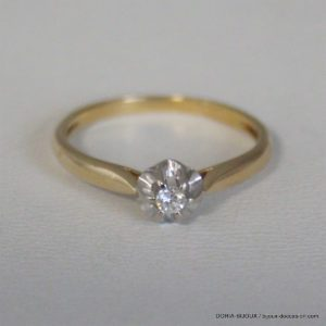 Bague Solitaire Or 750 Diamant 0.05cts 1.6grs -51