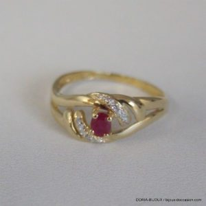 Bague Or 18k 750  Rubis 2.1grs -54