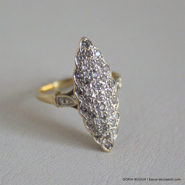 Bague Marquise Or 18k 750 Diamant