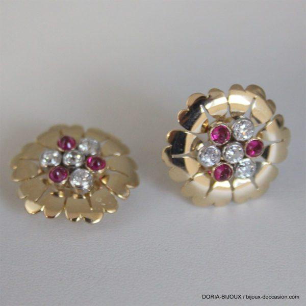 Bo Or 18k 750 Rubis Diamant