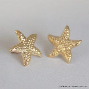 Boucles D 'oreilles Étoile De Mer Or 18k 750- 1.2grs