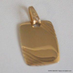 Pendentif Plaque Identité Or 18k 750 - 2.4grs
