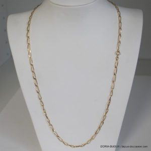 Chaine Or 18k, 750/0000 Alternée - 55cm - 10.70grs