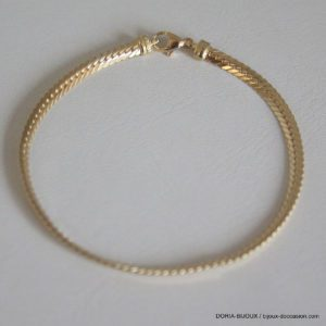 Bracelet Maille Anglaise Or 18k 750  3.1grs