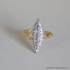 Bague Or 18k Marquise Éclats De Diamants- 2.3grs -52