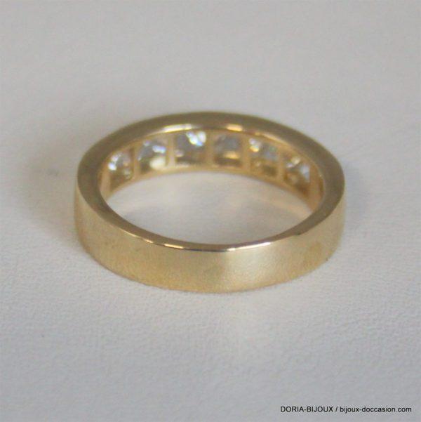 Bague Or 18k Demi Alliance Diamants 1.05ct- 5grs -53