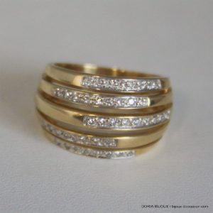 Bague Or 18k Diamants 0.41ct- 10.7grs -56