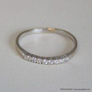 Bague Or 18k 9 Diamants 0.18ct- 1.9grs -58