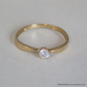 Bague Solitaire Or 750 Diamant 0.12cts 1.1grs -53