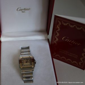 Montre Dame Cartier Santos Acier Et Or