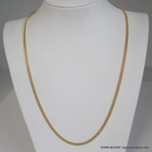 Chaine Maille Gourmette Or Jaune 18k-750- 20.63grs