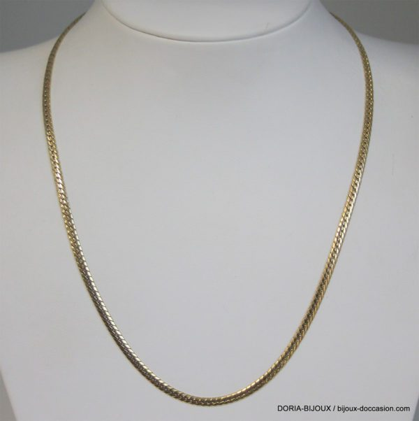 Collier Or Maille Anglaise 18k, 750 - 42cm - 7.18grs