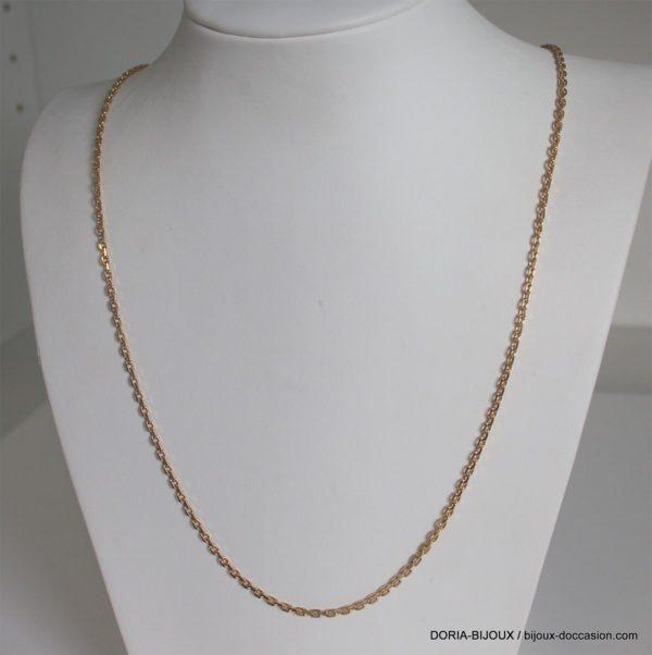 Chaine Maille Forçat Or 18k 750 - 70cm - 13.8grs