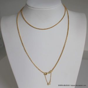 Chaine Or 18k 750/000 Maille Corde 12.6grs  60cm