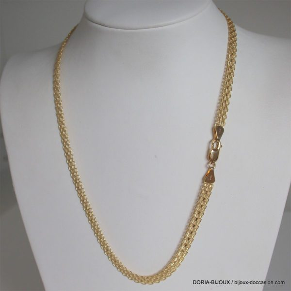Collier Or 18k 750 Maille Fantaise  -14.2grs -45cm