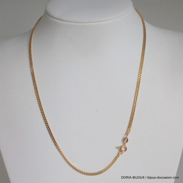 Collier Or 18k 750 Maille Gourmette -8.9grs -41cm
