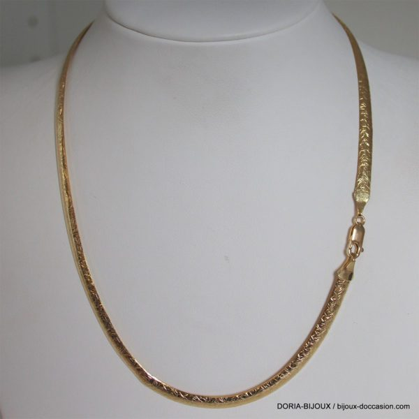 Collier Or 18k 750 Maille Fantaisie -9.5grs -42cm