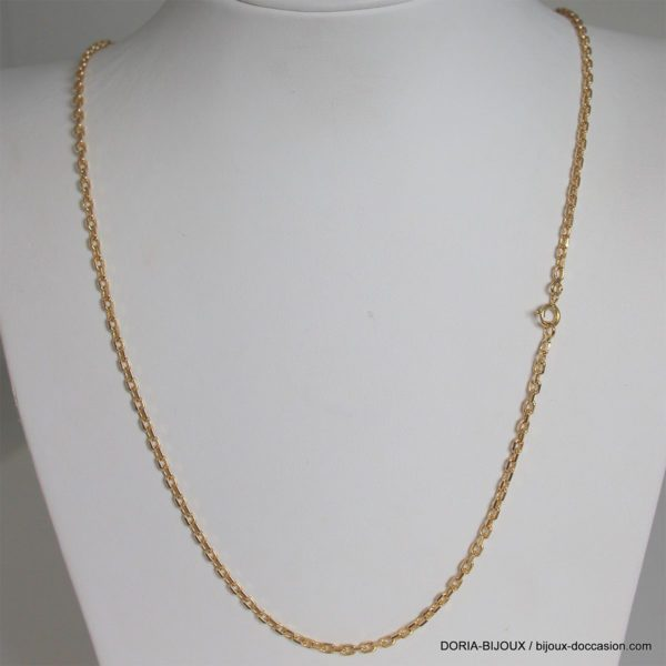 Chaine Or 18k 750 Maille Forcat 14.30grs -58cm-