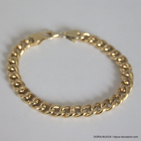 Bracelet Or 18k 750 Maille Gourmette - 21grs