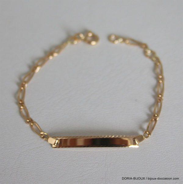 Bracelet Enfant Or 750 18k Identite-1.9grs