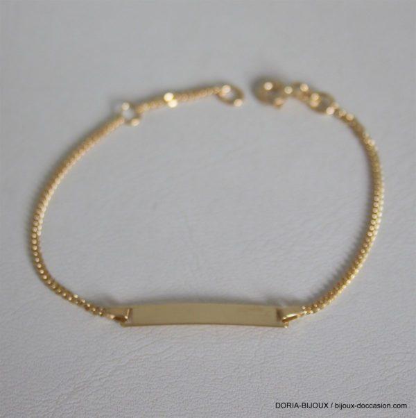 Bracelet Enfant Or 750 18k Identite-2grs