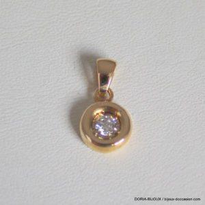 Pendentif Solo Diamant 0.15cts  Or Jaune 18k, 750.
