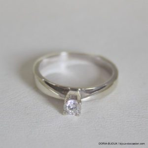 Bague Solitaire Or 750 Diamant 0.17cts 2.3grs -50