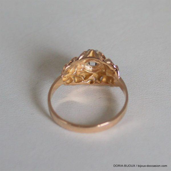 Bague Vintage Solitaire Or 750 Diamant 0.18ct 3.2grs