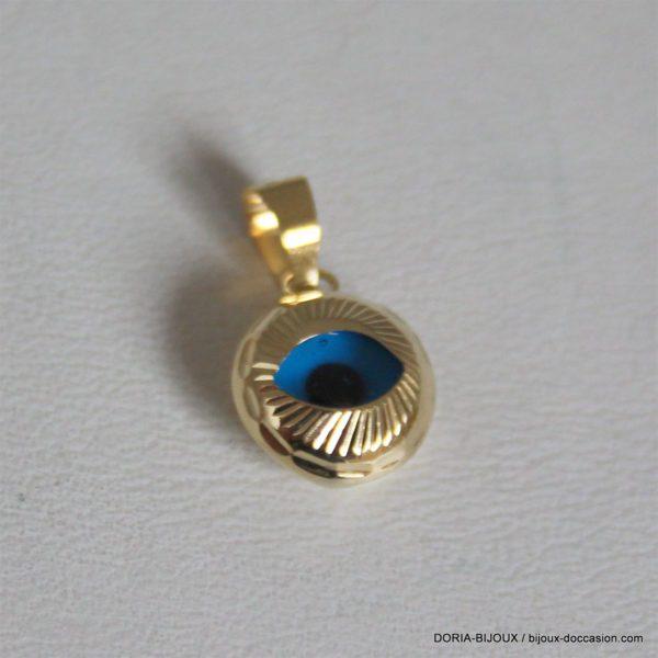 Pendentif Oeil Bleu Porte Bonheur 18k 750 - 0.7grs