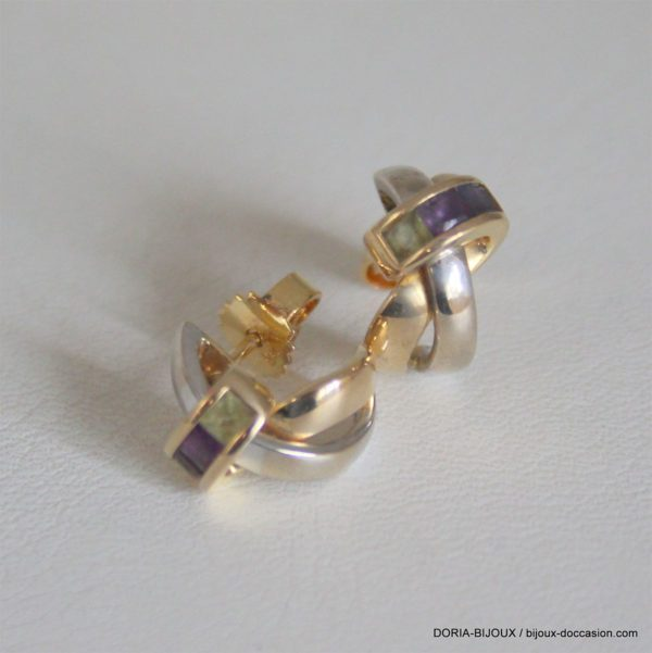 Boucles D'oreilles Guy Laroche Pierres Fines- 4.5grs
