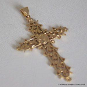 Pendentif Or 750 - 18k Religieux Croix - 7.2grs
