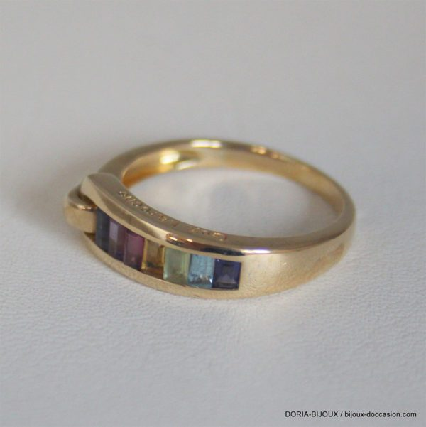 Bague Guy Laroche Or 18k Pierres Fines - 4.6grs
