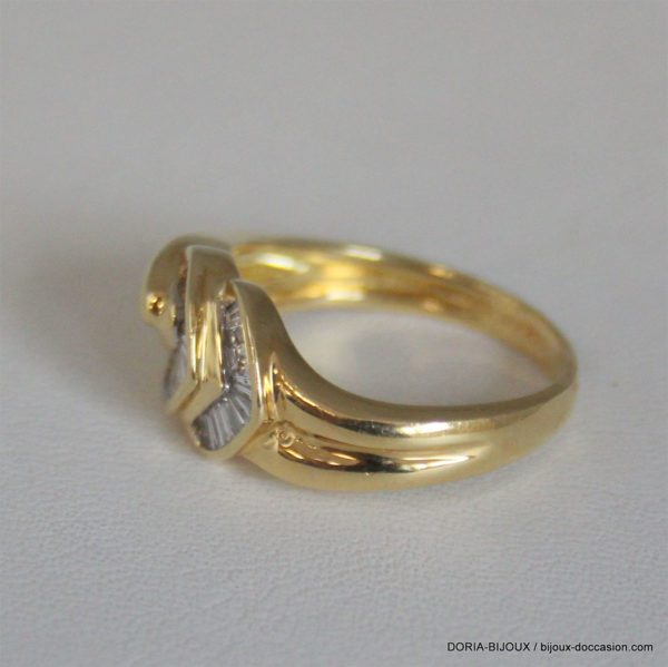 Bague Or 18k Diamants Baguettes - 54- 4.3grs