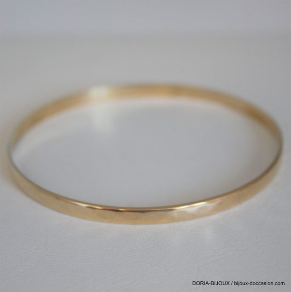 Bracelet Jonc Or Diametre 68 Mm Largeur 4.50 12.54gr