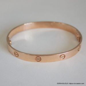 Bracelet Or Rose Rigide Largeur 8mm Ce Bijou D'occas
