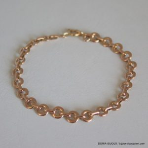 Bracelet Or Rose Maille Fantaisie 17cm 9.41grs