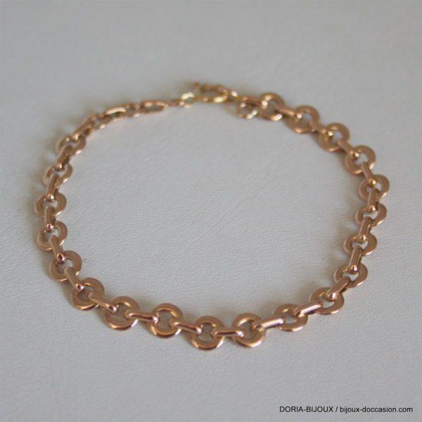 Bracelet Or Rose Maille Fantaisie 17cm 9.41grs