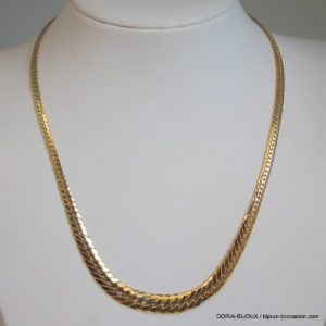 Collier Maille Anglaise Or Jaune 42 Cm 12.77grs