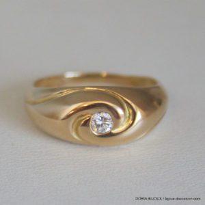 Bague Or Jong Diamant De 0.12 Carat No 52 3.53grs