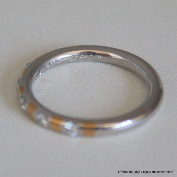 Alliance Or Blanc 5 Diamants De 0.06 2.50mm 5.98grs