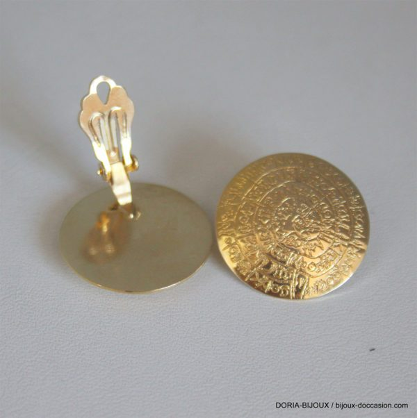 Boucle D'oreille  Or 585/000 Diametre 23mmm 9.02 Grs