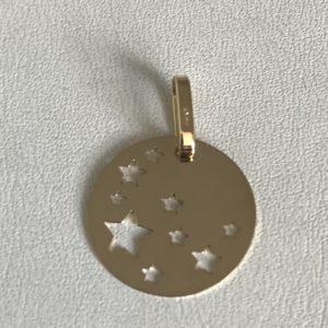 Médaille Or Jaune 18k Diametre 16mm