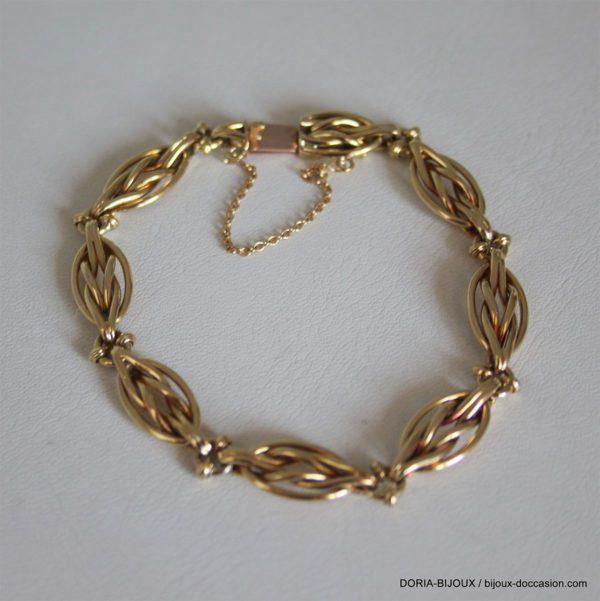 Bracelet Or 18k 750/000 19.28 Grs Maille Vintage