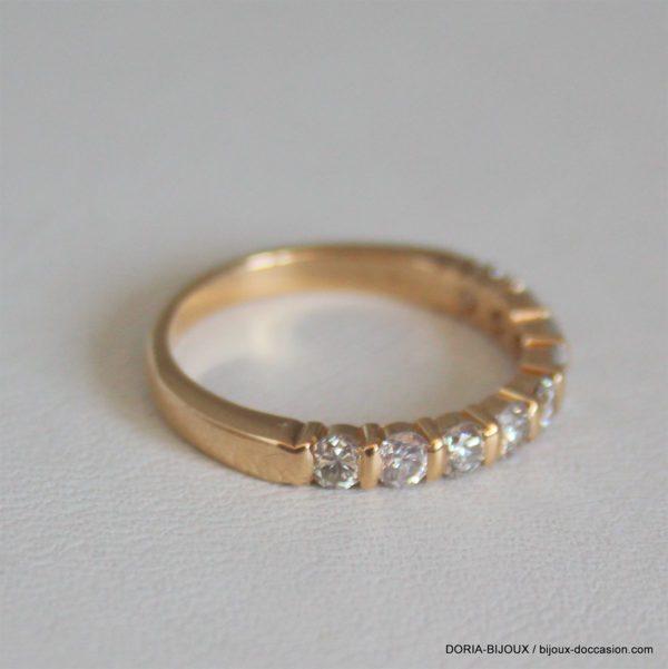 Demi Alliance Diamants Or 18k 750/000 2.72grs