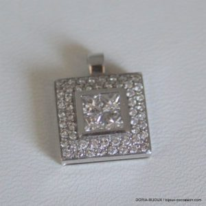 Pendentif Or Blanc 18 750/000 Diamants 1.33 Carat