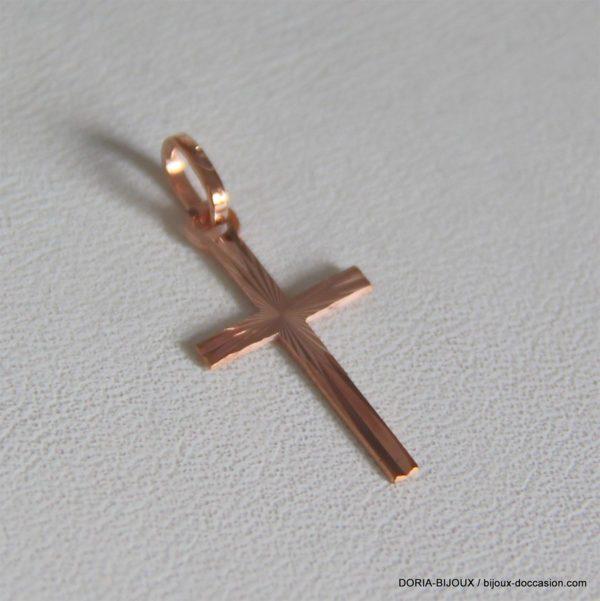 Pendentif croix or 18k, 750/000 - 1.85grs